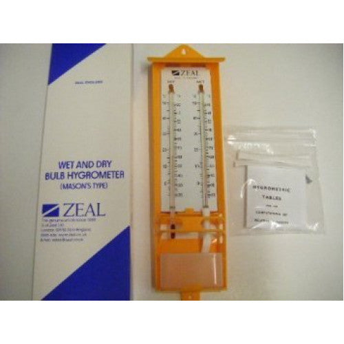 Zeal Wet and Dry Bulb Hygrometer - Labbazaar