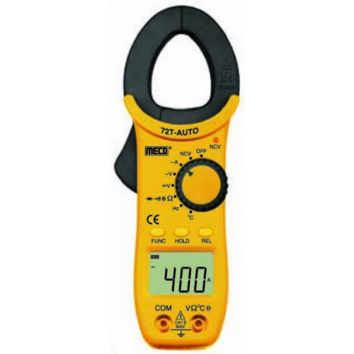 Meco 72T AUTO, Digital Clamp Meter, 400A