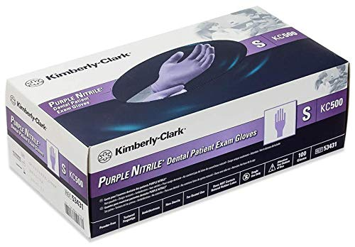 Kimberly Clark KC500 Nitrile Gloves (Purple Color,Small, Medium, Large) - Box of 100