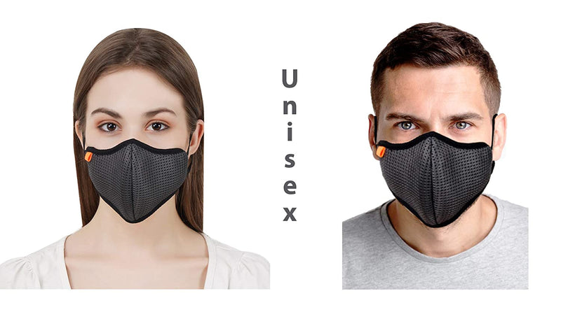 Reusable Washable 5-Layered Outdoor Protection Mask Men/Women (Multi-Color) (Pack of 3)