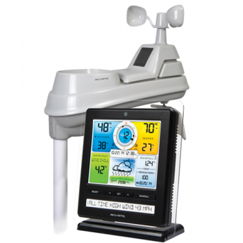 Acurite Pro Color Digital Weather Station with Weather Ticker and PC Connect, 02032 - Labbazaar