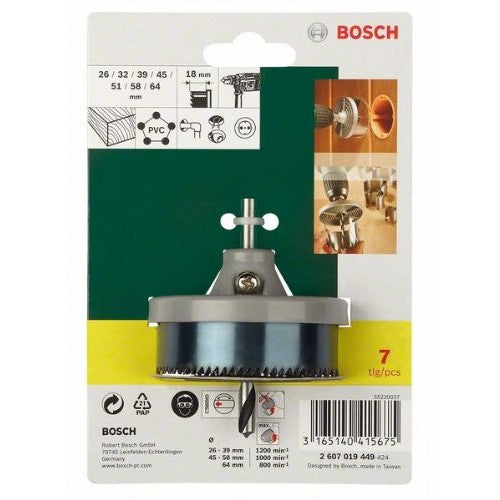 Bosch 7-pieces Hole Cutter Set - Labbazaar