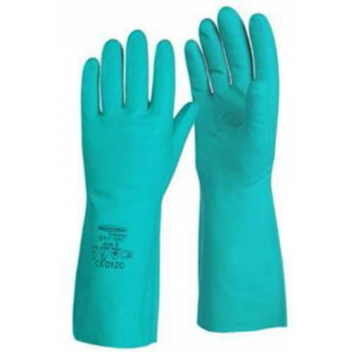 Lakeland EN 15F, Green Nitrosol Chemical Resistant Nitrile Gloves, 1 pair - Labbazaar