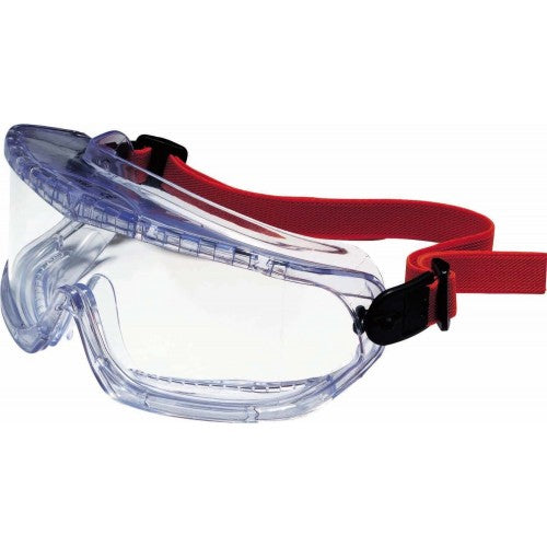 Honeywell 1060192, V-Maxx Indirect Ventilation Goggle Textile Strap Clear PC Anti-Scratch Lens, 1 pc - Labbazaar
