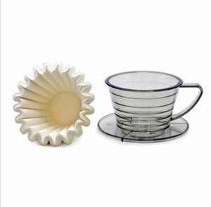 SUJI Premium Wave Coffee Dripper 155 Set - Kalita Wave Model (Exclusive Reseller!)