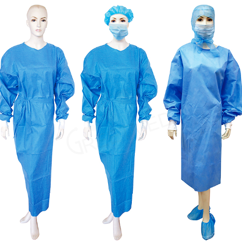 Disposable SMS Gown 35gsm Level 2 (Click to view Price for 10,000 order and Above)