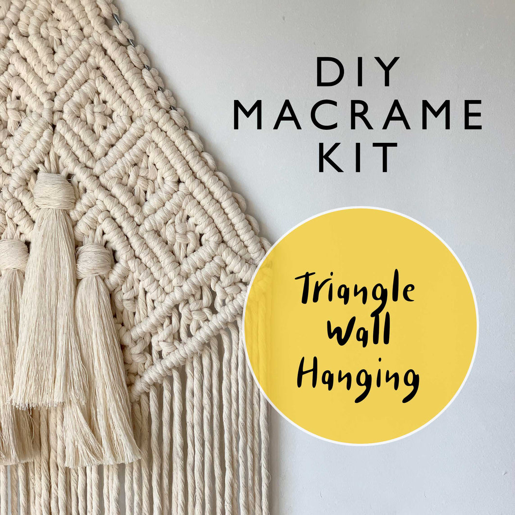 DIY Triangle Macrame Kit