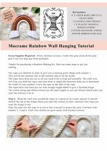 Load image into Gallery viewer, Rainbow Kit DIY Wall Hanging  + Tutorial