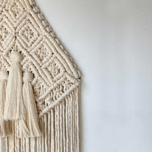 Triangular Boho Macrame Wall Hanging