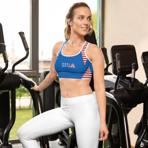 USA Patriotic Sports bra