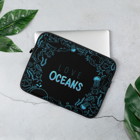 Love Oceans Laptop Sleeve