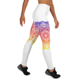 White Mandala Yoga Leggings
