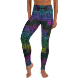 Rainbow Mandala Designed Yoga Leggings