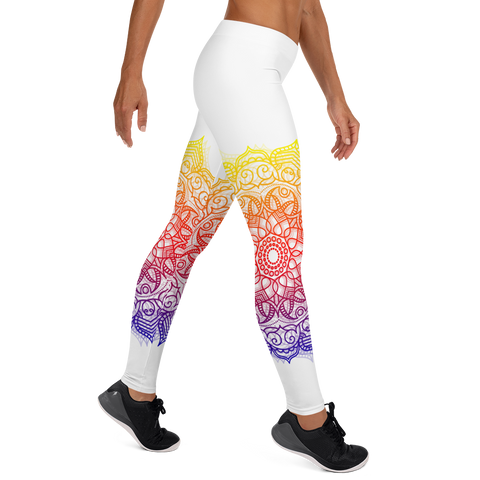 White Mandala Leggings