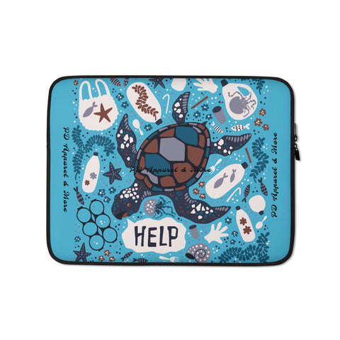 Save The Sea Turtles Laptop Sleeve