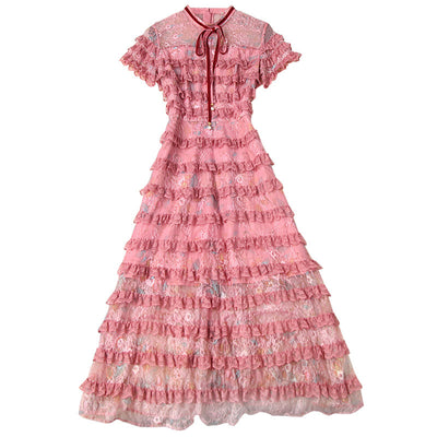 Rose Colored Garden Party Dress - LottiLove Dresses