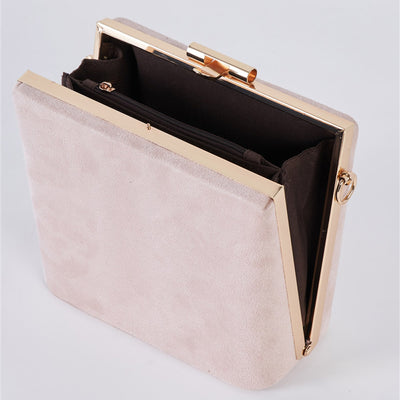 Suede Clutch Bag with Removable Strap - LottiLove Accessories