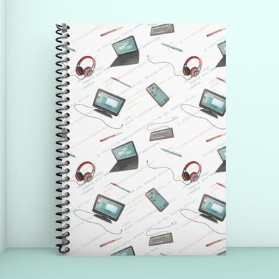 Girl Develop It x LottiLove - Grid Notebook - LottiLove Made to Order