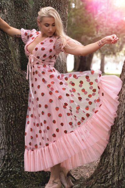 Strawberry Dress - Standard and Plus Sizes - LottiLove Apparel