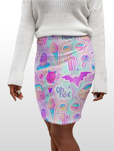 Bodycon Skirt - Oh No - LottiLove Made to Order