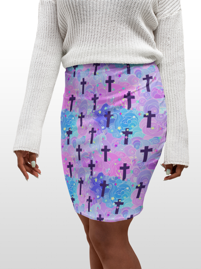 Bodycon Skirt - Holy Water - LottiLove Made to Order