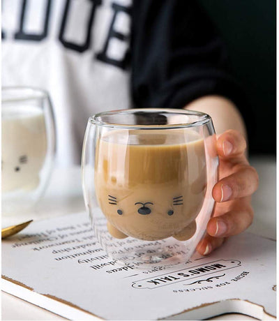 Creative Kawaii Double-layer Coffee Mug - LottiLove Decor