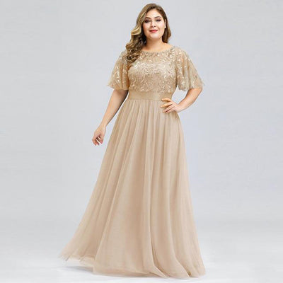 Plus Size Sequin Tulle NYE Gown - LottiLove Dresses
