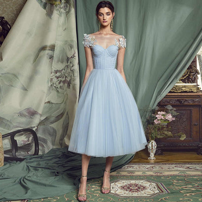 Tea Length Tulle Party Dress - LottiLove Dresses