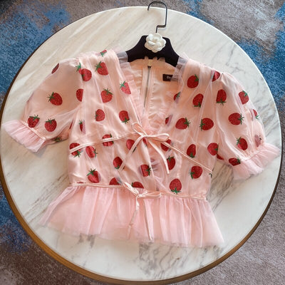 Strawberry Crop Top - LottiLove