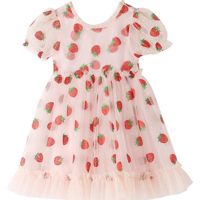 Strawberry Dress (Tik Tok Kids Version) - LottiLove Apparel