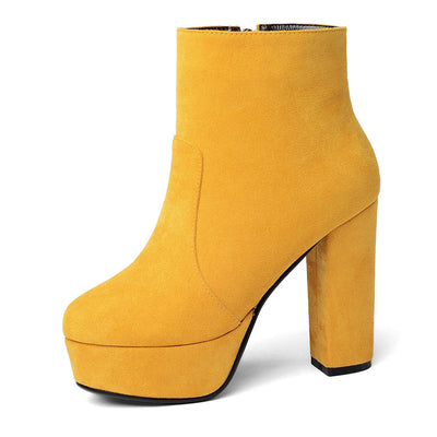 Platform Ankle Boots - LottiLove Shoes