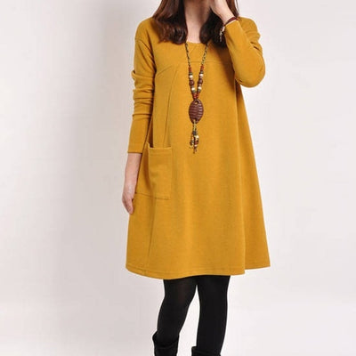 Knee Length Casual Straight Women Dress - LottiLove Dresses