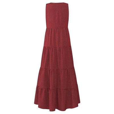 Dotted Maxi Shift Dress - LottiLove Dresses