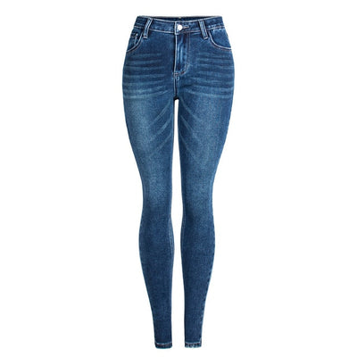 Vintage Wash High Waist Skinny Jeans - LottiLove Bottoms