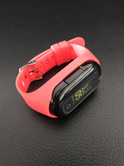 Cross-border new smart watch bracelet running sports pedometer heart rate color screen bracelet dual Bluetooth headset two in one EZ FIT ME red