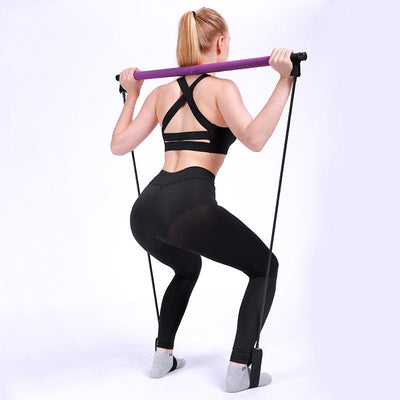 Portable Yoga Resistance Bar The Fitness Trainer Store