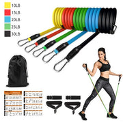 Resistance Bands Set The Fitness Trainer Store SET A-11PCS