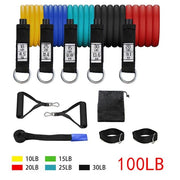Resistance Bands Set The Fitness Trainer Store SET C-11PCS