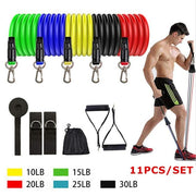 Resistance Bands Set The Fitness Trainer Store SET F-11PCS