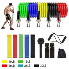 Resistance Bands Set The Fitness Trainer Store SET G-16PCS
