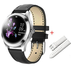 Smart Watch Women The Fitness Trainer Store Black+ White Band