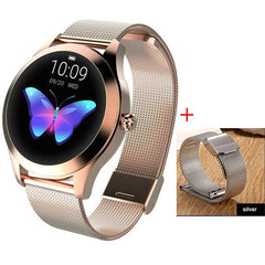 Smart Watch Women The Fitness Trainer Store Gold+ Silver Band