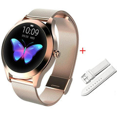 Smart Watch Women The Fitness Trainer Store Gold+ White Band