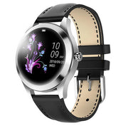 Smart Watch Women The Fitness Trainer Store Silver Black Leather