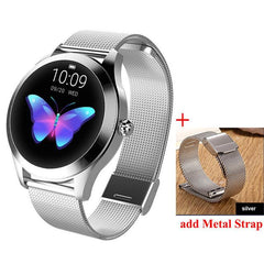 Smart Watch Women The Fitness Trainer Store Silver+ Silver Band