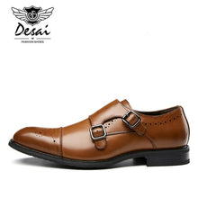 Load image into Gallery viewer, DESAI Men's Genuine Leather Formal Shoes