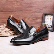Load image into Gallery viewer, Desai Men's Leather Slip-On Shoes
