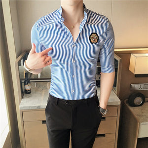 Half Sleeve Slim Fit Men's Summer Shirts