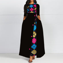 Load image into Gallery viewer, Women's Long Elegant Print Dress