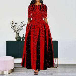Women's Long Elegant Print Dress